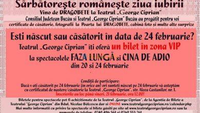 """Photo of Invitații gratuite, la Teatrul """"George Ciprian"""""""