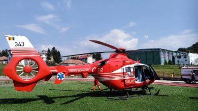 Photo of Bebeluș în stare gravă, luat cu elicopterul