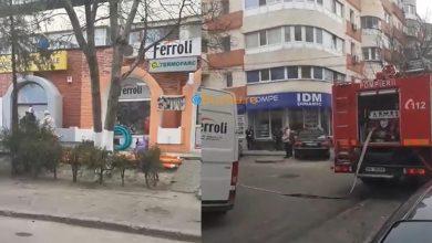 Photo of Un apartament a luat foc la Bazar (video)