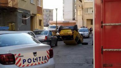 Photo of Cascadorie cu taxiul, pe o stradă din Buzău